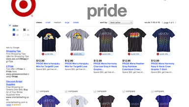 Target celebrating Pride with T-shirts