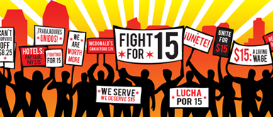 Low-wage earners demonstrate in 'Fight for $15'
