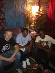 Jake Kestly and Earl Turner with Kendrick Lamar backstage at The Rave in 2012.