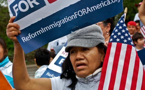 Immigrant allies rallying in nationwide day of action