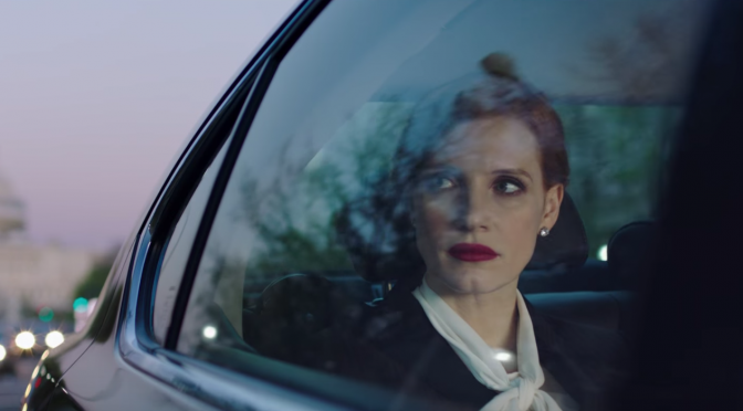 Chastain enlivens political thriller 'Miss Sloane'